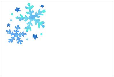 お礼状によく合う、かわいい冬の花や雪の無料イラスト