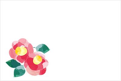 和紙の千切り絵のような、または少し滲んだ水彩画