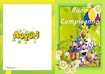 誕生日には「buon compleanno」カード。