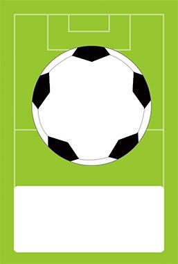 サッカー好きな男の子にはこんな背景イラストもあります。