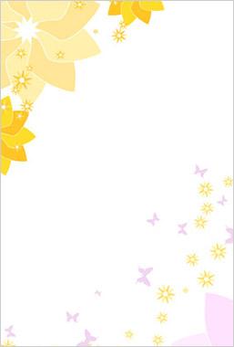 セピア調で明るく清涼感のある花と蝶