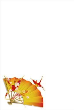 扇子と折鶴
