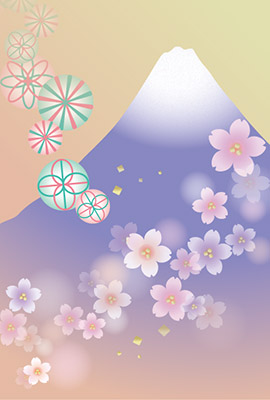 お洒落な富士山の背景素材1
