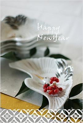 鶴の写真素材の年賀状